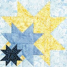 Triple star quilt block....I LIKE THIS ONE!. Maybe this pattern for Christmas dress scraps?