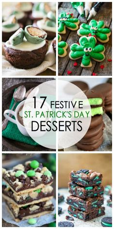 Be inspired by this collection of lucky St. Patrick's Day Desserts. Shamrock snacks, mint cookies, shakes and cupcakes galore!