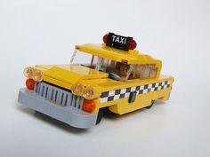 lego car moc | MOC: Checker New York Taxi Cab (Slot Car) - LEGO Town - Eurobricks ...