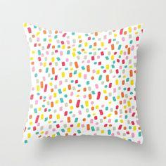 Colourful strokes Throw Pillow - $20.00