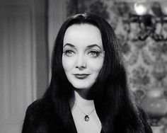 """Morticia Addams played by Carolyn Jones in """"The Addams Family"""". Addams Family Members, Die Addams Family, Adams Family, Family Tv, Morticia Addams, Carolyn Jones, Los Addams, Charles Addams, Tv Moms"""