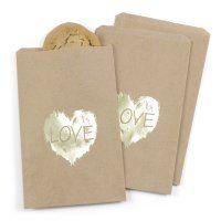 Brush of Love Treat Bags - Kraft - Design Only