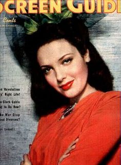 Actress Linda Darnell on the cover of a movie magazine