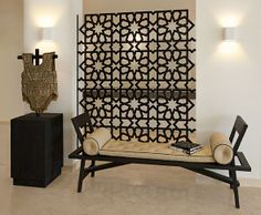 Modern with traditional moorish pattern.  wow! Kate Hume | Villa dubai