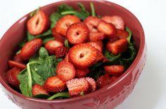 Ensalada de espinaca y fresas