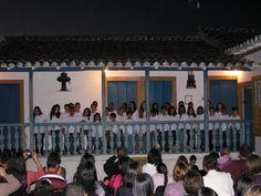 Apresentação de corais infantis - Museu do Diamante - Diamantina Minas Gerais