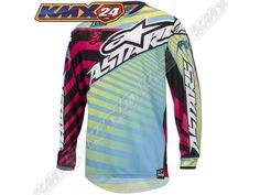 Black//Blue//Flo Yllw Alpinestars Mx Motocross Offroad Supermatic Gloves Medium