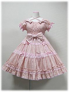 Angelic Pretty - Precocious Tiered OP (Strawberry Floral) /// ¥27,090 /// Bust: 90~100cm Waist: 71~81cm Length: 88cm