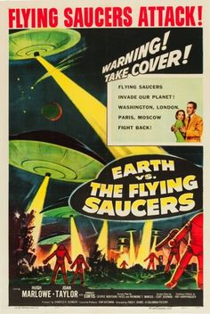 Movie Posters:Science Fiction, Earth vs. the Flying Saucers (Columbia, 1956)…