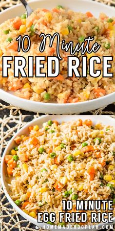 Need a new go-to side dish for busy weeknights? Making fried rice at home is always a great staple, and this easy recipe comes together in just 10 minutes! Easy Rice Recipes, Rice Recipes For Dinner, Side Dish Recipes, Breakfast Recipes, Ham Fried Rice Recipe Easy, Recipes With Minute Rice, Easter Recipes, Recipes With Jasmine Rice, Recipes For Rice Cooker