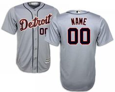 f9e1c0803e24 Detroit Tigers Men s Majestic Cool Base Custom Road Jersey