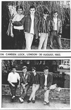 The Smiths at Camden Lock, London on August 30,1983.