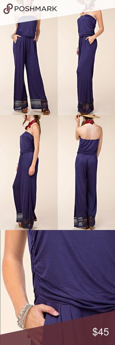 MANHATTAN Strapless Jumpsuit Soft Jersey material. PRICE FIRM Bellanblue Pants Jumpsuits & Rompers