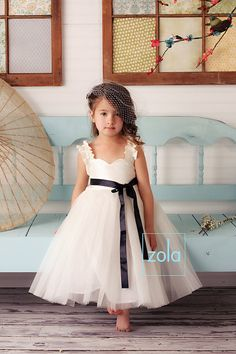 Ivory flower girl dress- this with the ribbon is exactly what I want for my flower girls. Perfect Wedding, Our Wedding, Dream Wedding, Wedding Bride, Bridesmaid Flowers, Bridesmaid Dresses, Wedding Dresses, Bridesmaids, Party Dresses