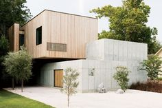 A cast-in-place concrete dream home in Houston.