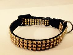 Mini Gold Bling Puppy Collar by DogFabulous on Etsy