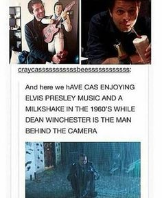 Image result for destiel milkshake elvis