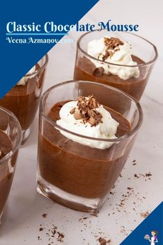 This chocolate mousse is rich, creamy yet light, and airy. A classic recipe made with cooked eggs, whipped cream, and good quality chocolate. #chocolatemousse #chocolate #mousse #recipe #bestchocolatemousse #howtomousse