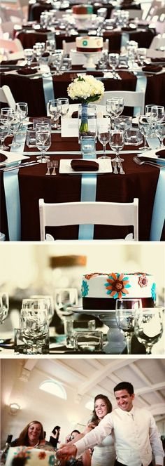 ♡ Brown #winter #wedding #Tablescape ... For wedding ideas, plus how to organise an entire wedding, within any budget ... https://itunes.apple.com/us/app/the-gold-wedding-planner/id498112599?ls=1=8 ♥