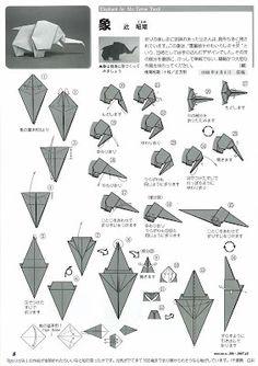 Bruno origami: Origami elefante
