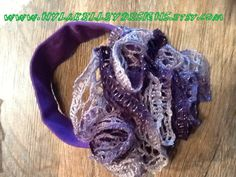 Crocheted Sashay Ruffle Flower Head Band by NYLAKELLEYDESIGNS, $9.95