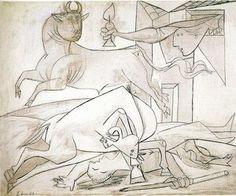 Picasso: Guernica y otras obras « Cañasanta. Dibujo preparatorio