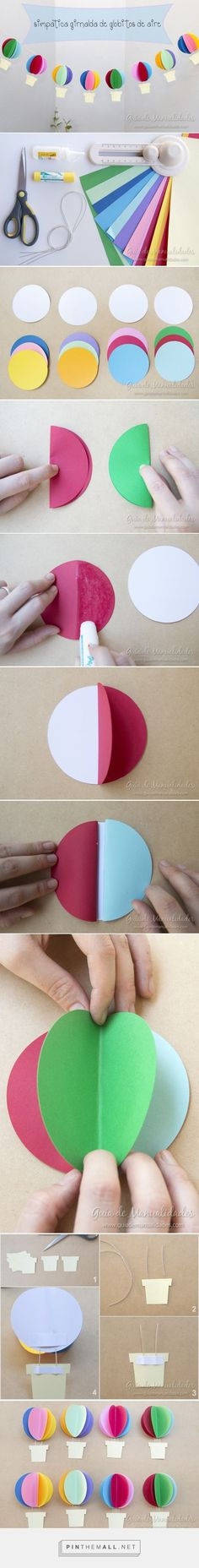 DIY paper hot-air balloons.