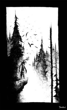 Leshen by TheDoubleDwarf on DeviantArt Wolf Tattoo Sleeve, Nature Tattoo Sleeve, Nature Tattoos, Sleeve Tattoos, Witcher Art, The Witcher, Eagle Tattoos, Tattoos Pics, Dark Fantasy