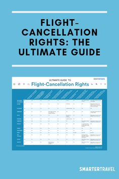 Flight-Cancellation Rights: The Ultimate Guide Travel News, Air Travel, Travel Guides, Do You Know What, Need To Know, All Airlines, Canadian Travel, Domestic Flights, Got Online