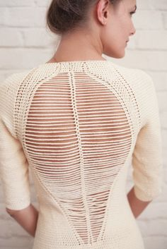 open back knit / Helen Rodel Elegant Outfit, Jewelry Stores, Knit Crochet, Crochet Things, Vintage Patterns, Knitwear, Pullover, Unique Clothing, Model