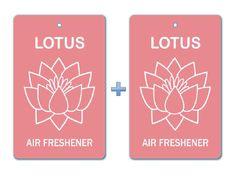 Lotus Flower Air Freshener Paper Bar Hanging (Pack of 2)/ Car-Home-Office Eco-friendly Pocket Deodorizer