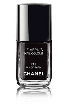 Chanel Le Vernis Nail Colour 219 Black Satin 13ml by Chanel, http://www.amazon.co.uk/dp/B001P8JNMW/ref=cm_sw_r_pi_dp_fvyesb08DP4Z3/275-4843915-6486626