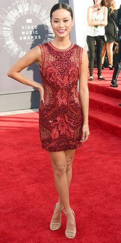 Celebrities in Marsala: Pantone's 2015 Color of the Year - Jamie Chung from #InStyle