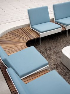 Built-in outdoor seating in the courtyard, with or without a fire