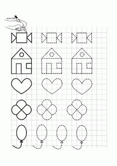 printables for kids Printable Preschool Worksheets, Tracing Worksheets, Printables, Graph Paper Drawings, Graph Paper Art, Minion Coloring Pages, Maternelle Grande Section, Montessori Activities, Math For Kids