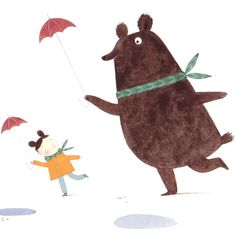 """""""Bear and small human"""" by Christine Pym"""