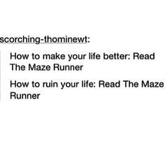 No, read The Death Cure to ruin your life... ruined mine.