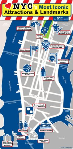 Map Of New York City With Landmarks.8 Best New York Images New York City Travel New York Trip New