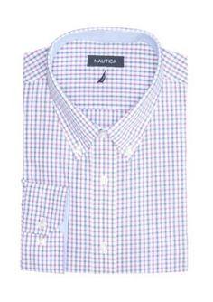 Nautica Raspberry Classic Fit Eastport Button Down Shirt