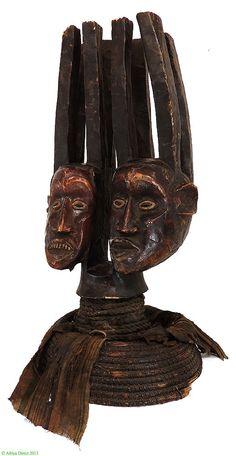 Ekoi Ejagham Double Face Headcrest Cross River Africa - Cross River & Niger River Delta - African Masks