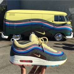 Its a match! The hype around the Nike x @sean_wotherspoon Air Max 97/1 slowly builds up! Heres a matching car - for the real fans by @sk8thegr8 #sneakersmag #nike #nikeair #airmax971 #seanwotherspoon