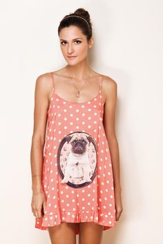 I want it badly.. polka dot coral cami with a sweet pug... sweet dreams :)