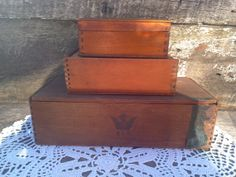 SET OF 3  Mix Match Old Dove Tale Boxes  by CottonCreekCottage, $16.99