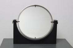 specchio da tavolo base marmo produzione italiana anni '60  1