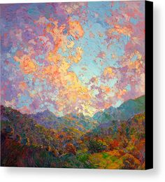 Wine Country Canvas Print featuring the painting New Dawn by Erin Hanson