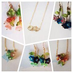 Earrings Flores, Pendientes Necklace, Gargantilla Pendientes, Bisuteria Jewelry, Flores Flores, Guay, Jewelry Bohochic, Necklace Earrings, Jewelry Jewelry
