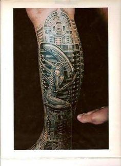 Alien Bio mechanical Tattoo