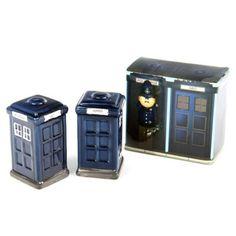 [DOCTOR WHO] TARDIS Salt & Pepper pots