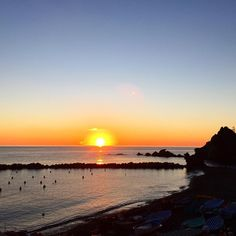 Winter sunsets in Levanto are always an amazing natural performance