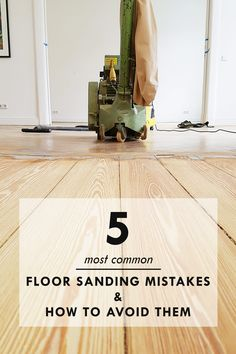 5 Common Floor Sanding Mistakes & How To Avoid Them In the last few years, we've sanded more floors than I care to remember. We turned yucky laminate covered floors into gorgeous sanded floorboards and Sanding Floorboards, Sanding Wood Floors, Pine Wood Flooring, Diy Wood Floors, Refinishing Hardwood Floors, Diy Flooring, Living Room Flooring, Timber Flooring, Bedroom Flooring
